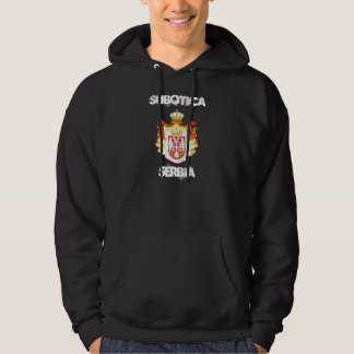 Subotica, Serbia with coat of arms Hoodie