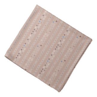 Subtle Beige Octagon Stripe Geometric Kerchiefs