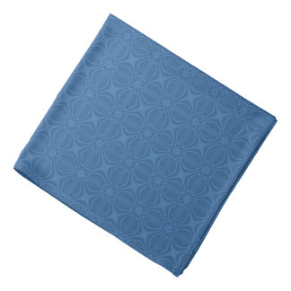 Subtle Blue Crisscross Geometric Pattern Head Kerchief