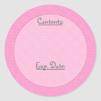 Subtle Floral U Pick Color/Food & Storage Labels