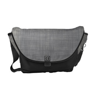 Subtle linen abstract pattern in grey courier bag