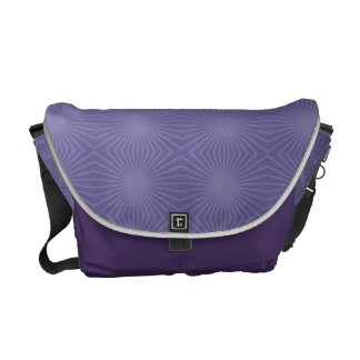Subtle Purple Starburst Pattern Messenger Bags