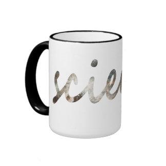 Subtle, starry science ringer mug
