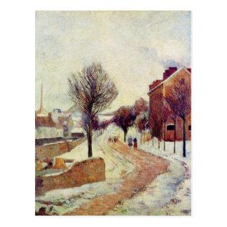 Suburb under snow by Paul Gauguin Postcard