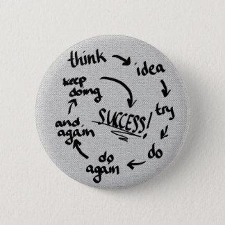 Success 6 Cm Round Badge