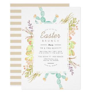 Succulent Bouquet Watercolor   Easter Invite