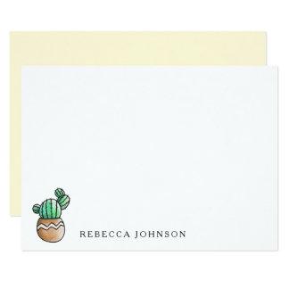 Succulent Cactus Rustic Minimal Card