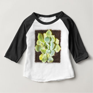 Succulent Garden Plant With Dew Baby T-Shirt