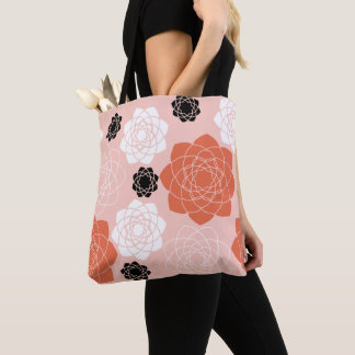 Succulent Symmetry Tote in Blush