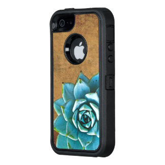 Succulent Watercolor Rustic Brown OtterBox iPhone 5/5s/SE Case
