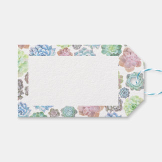 Succulents gift tags