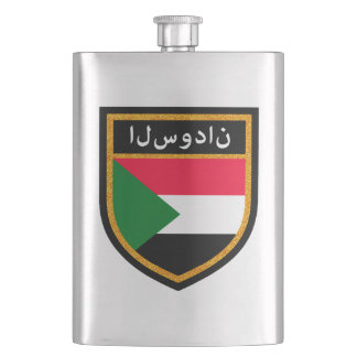 Sudan Flag Hip Flask
