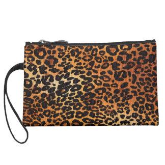 Suede Mini Clutch in Leopard