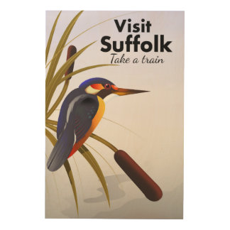 Suffolk England Vintage Travel Art
