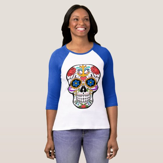 Sugar Skull anchor rose  shirt