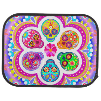 Sugar Skull Car Mats (Rear) (set of 2)