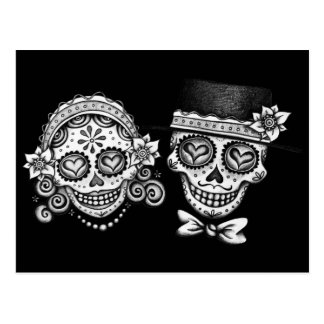 Sugar Skull Couple Postcard