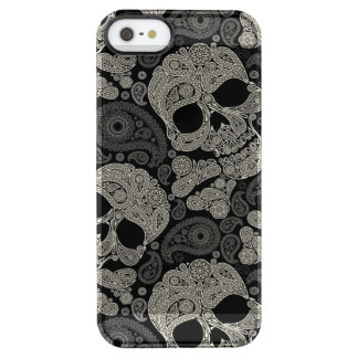 Sugar Skull Crossbones Pattern Clear iPhone SE/5/5s Case
