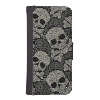 Sugar Skull Crossbones Pattern iPhone 5 Wallet