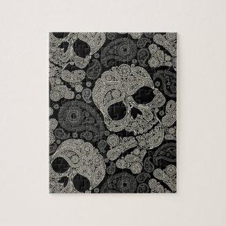 Sugar Skull Crossbones Pattern Puzzle
