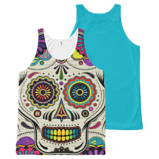 Sugar Skull Day of the Dead All-Over Print Tank Top