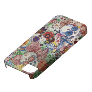 sugar skull day of the dead tattoo phone cover