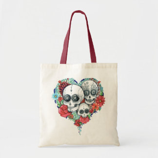 sugar skull day of the dead tote bag
