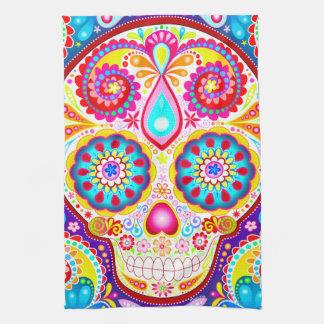 Sugar Skull Kitchen Towel - Day of the Dead Art