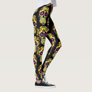 34d604db9aade Sugar Skull Leggings Day Of The Dead Yoga Pants