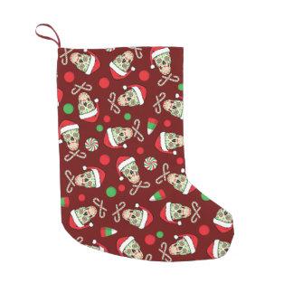 sugar skull santa customizable small christmas stocking