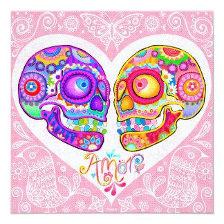 Sugar Skull Wedding Invitations - Day of the Dead