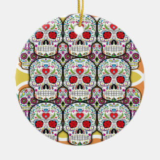 Sugar Skulls Christmas Ornament