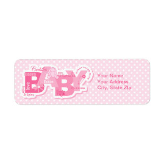 Sugar & Spice Bunny Label Return Address Label