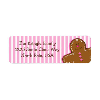Sugar & Spice Gingerbread Address Label