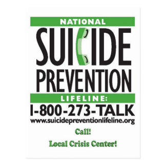Suicide Prevention POSTER Post Card