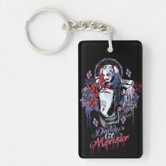 Suicide Squad | Harley Quinn Inked Graffiti Double-Sided Rectangular Acrylic Key Ring