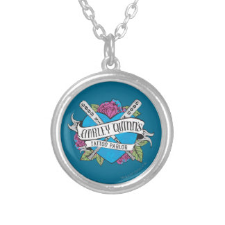 Suicide Squad | Harley Quinn's Tattoo Parlor Heart Silver Plated Necklace