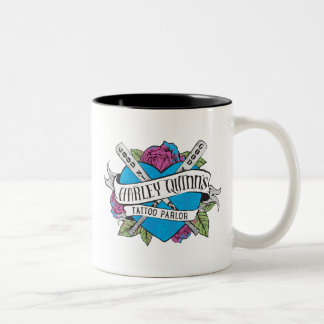 Suicide Squad | Harley Quinn's Tattoo Parlor Heart Two-Tone Coffee Mug