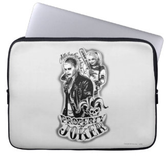 Suicide Squad | Joker & Harley Airbrush Tattoo Laptop Sleeve