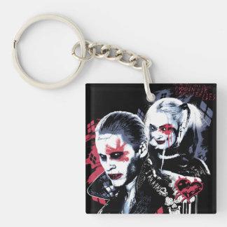 Suicide Squad | Joker & Harley Painted Graffiti Key Ring