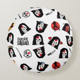 Suicide Squad | Katana Emoji Pattern Round Cushion