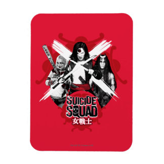"Suicide Squad | Squad Girls ""Female Warrior"" Rectangular Photo Magnet"