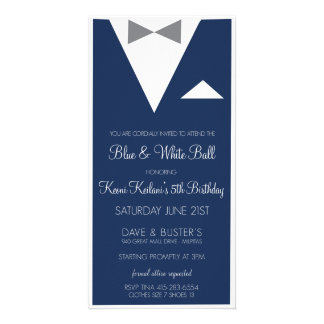 Suit and Tie Invite Personalized Photo Card