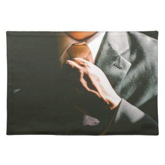 Suit businessman tie shadow effect placemat