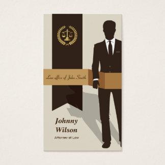 Suit Man Faux Gold Libra Laurel Classic Lawyer Business Card