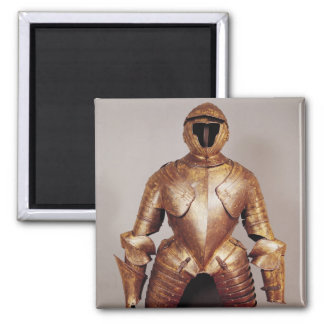 Suit of armour belong to Charles de Lorraine Square Magnet