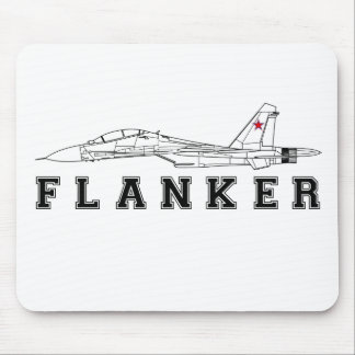 SUKHOI SU-30 FLANKER RUSSIAN AIR FORCE JET FIGHTER MOUSE PAD