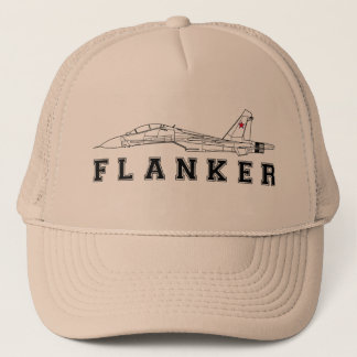 SUKHOI SU-30 FLANKER RUSSIAN AIR FORCE JET FIGHTER TRUCKER HAT