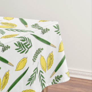 Sukkot Four Species Cotton Tablecloth