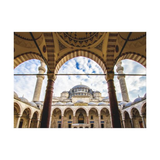 Sulamine Mosque, Istanbul Turkey Canvas Print